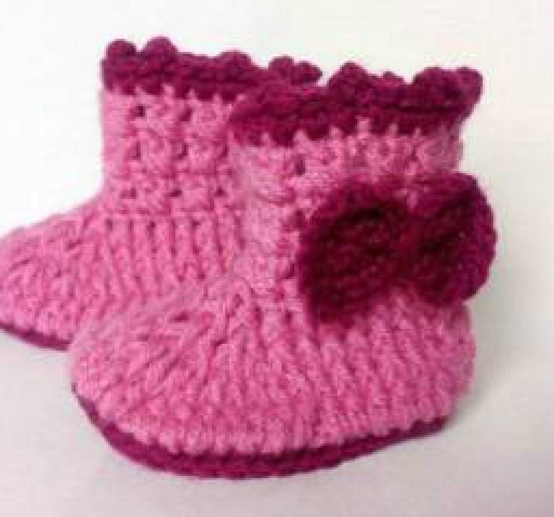 Crochet baby booties pattern!