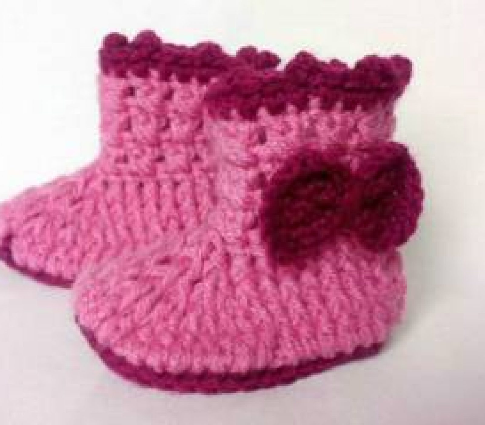 Crochet baby booties pattern!