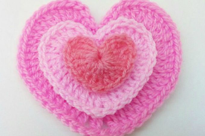 Crochet Heart 3 Sizes – Simple & Easy!