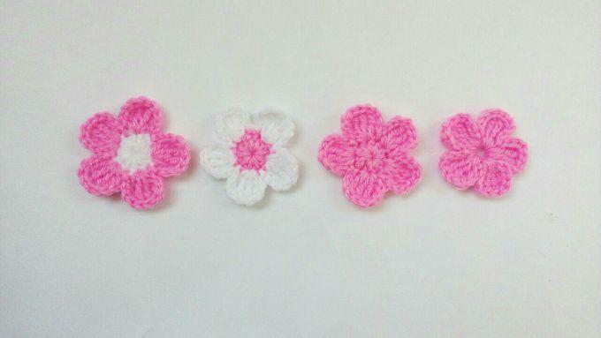fleur crochet 6 petales
