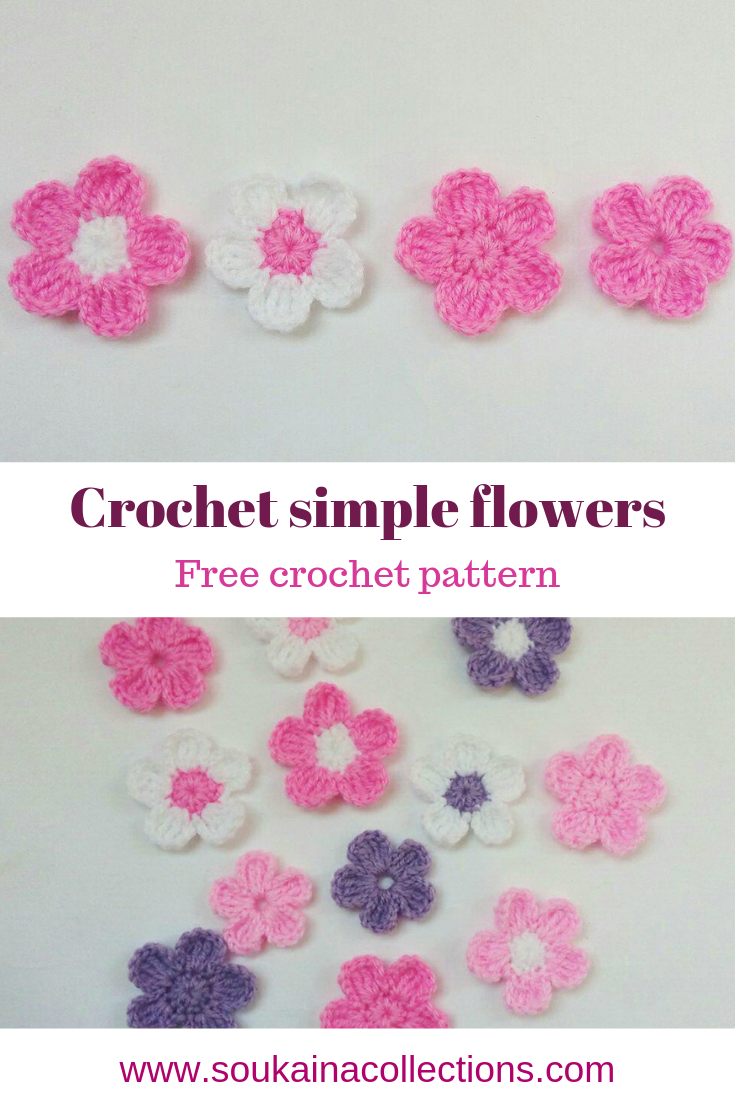 Easy crochet flower free pattern