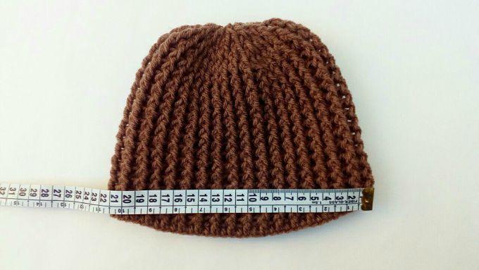 working on crochet hat