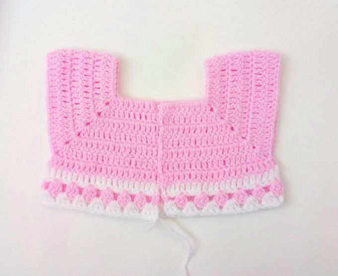 crochet baby cardigan step 19