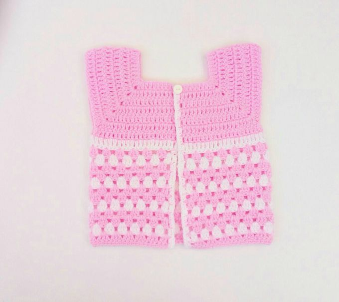 crochet baby cardigan step 22