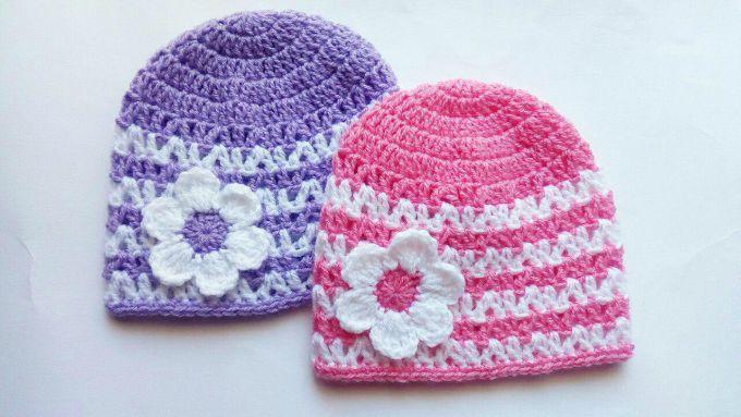 crochet baby hats beanie