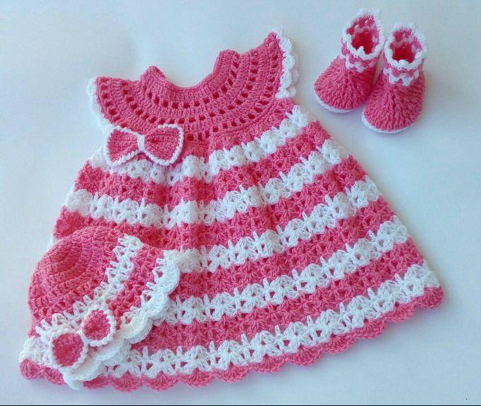 Robe Bébé Au Crochet Tuto Soukaina Collections Crochet