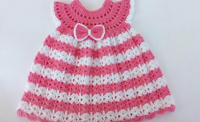 The Pink Crochet Baby Dress – Free Pattern for Cute Baby Girls!