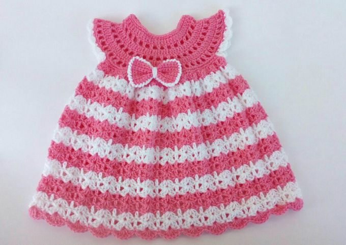lacy crochet baby dress pattern free