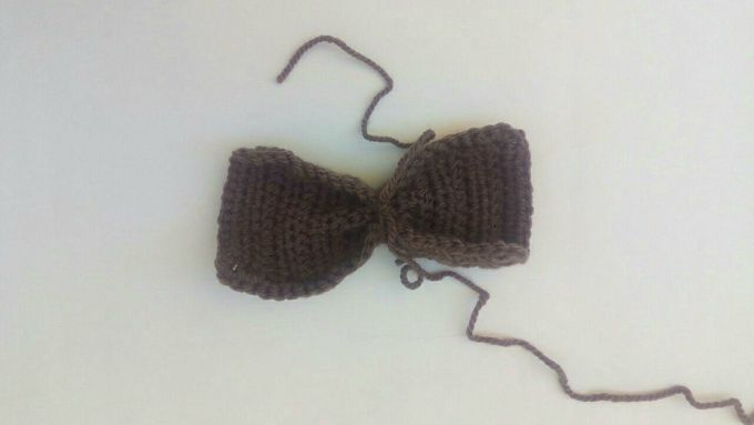 crochet bow step 3