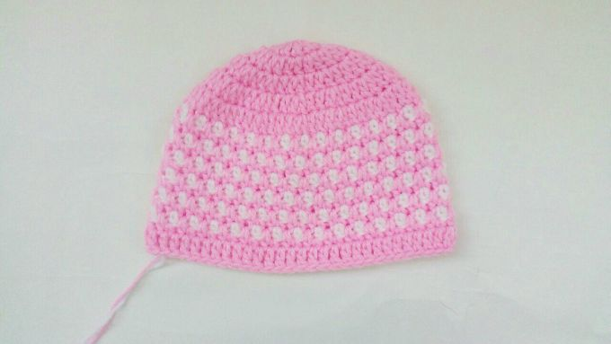 Crochet Baby Hat Free Pattern step 8