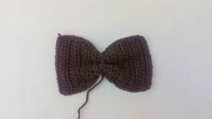 crochet bow step 4