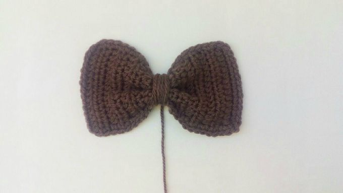 crochet bow step 5