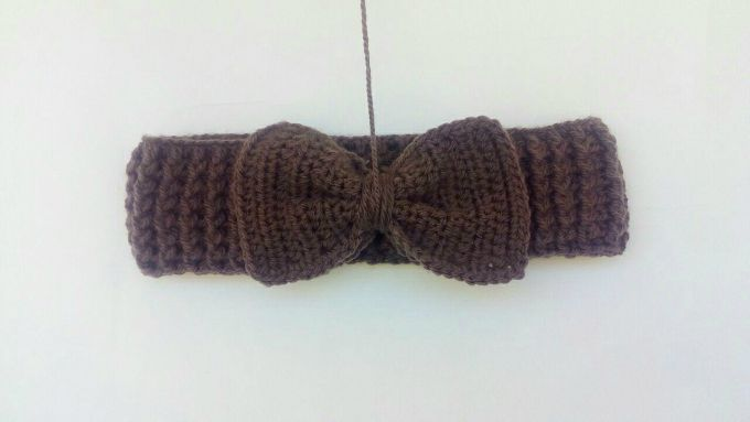 crochet bow headband 1