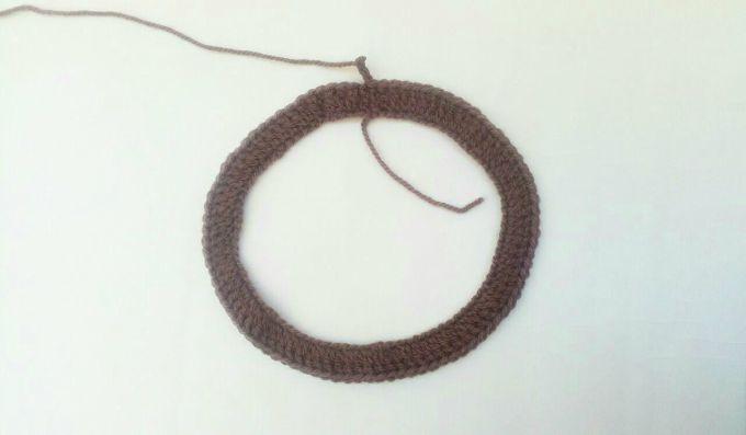 crochet headband step 1