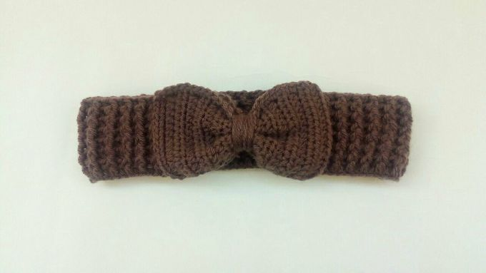 crochet bow headband