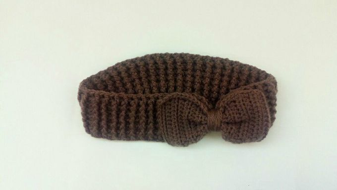 crochet bow headband ear warmer