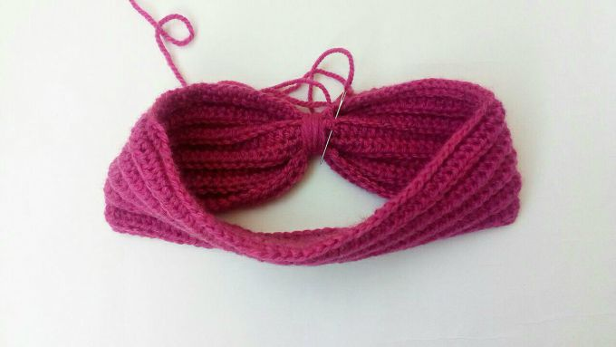 crochet ear warmer step 7