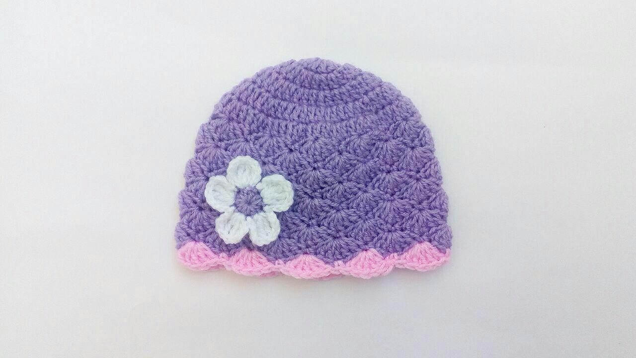 Easy crochet baby hat