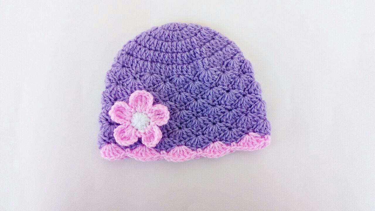 Lacy Crochet Baby Beanie