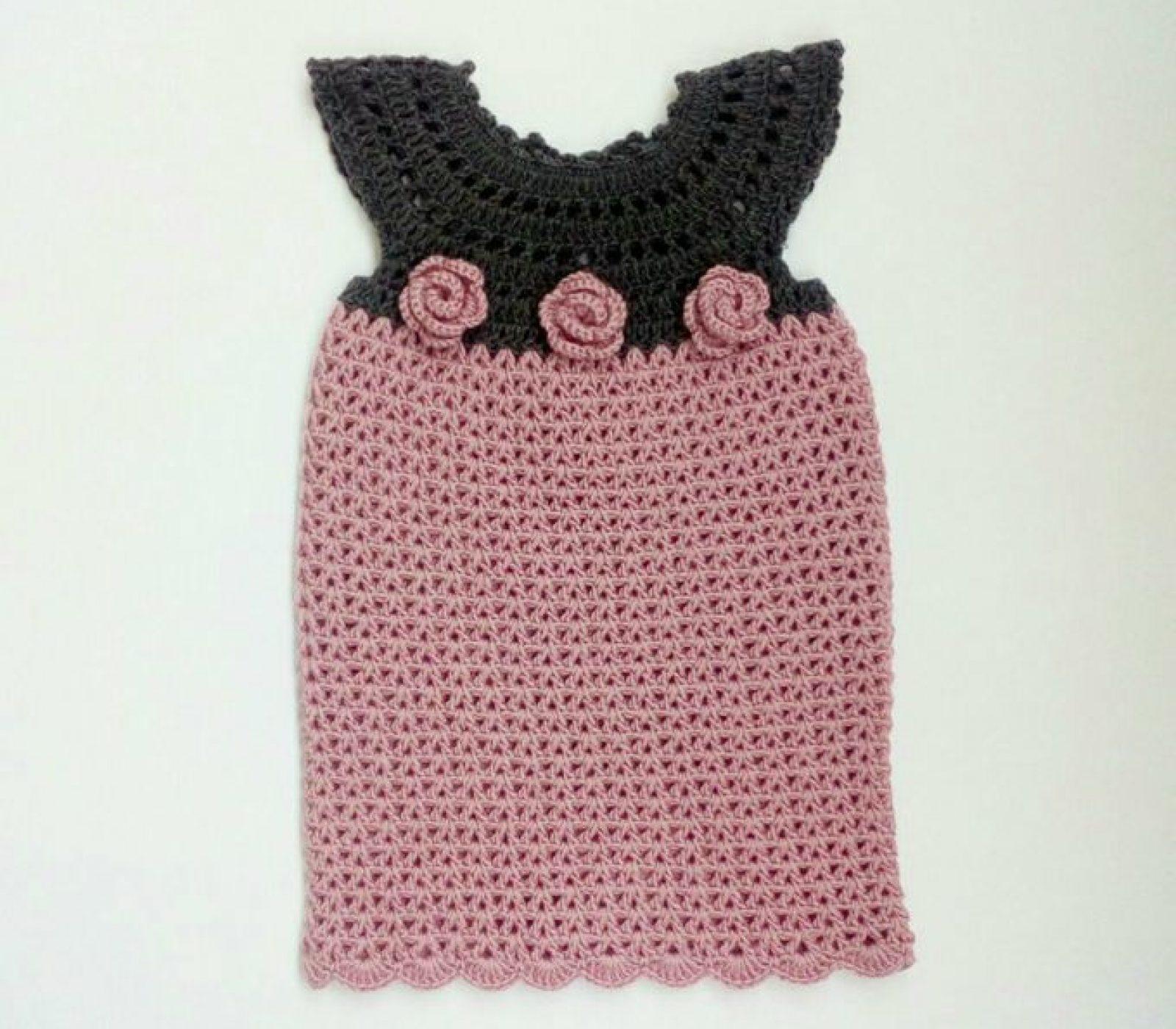 The Laila Crochet Baby Girl Dress Free Pattern