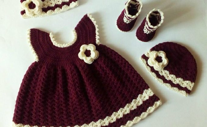 Little Princess Sara Crochet Baby Dress Free Pattern