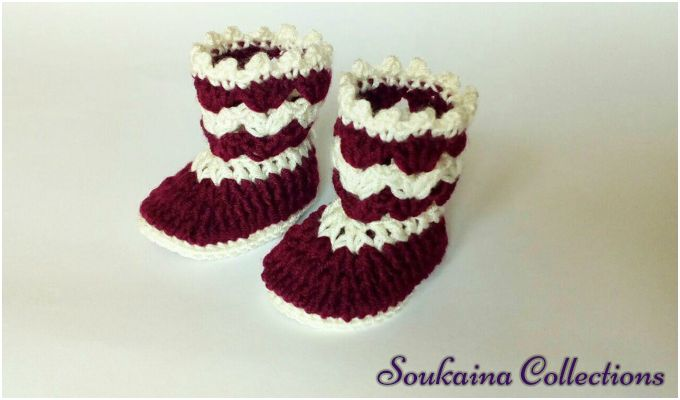 1-Hour Crochet Baby booties