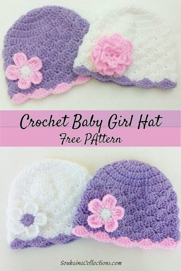Crochet Baby Girl Hat