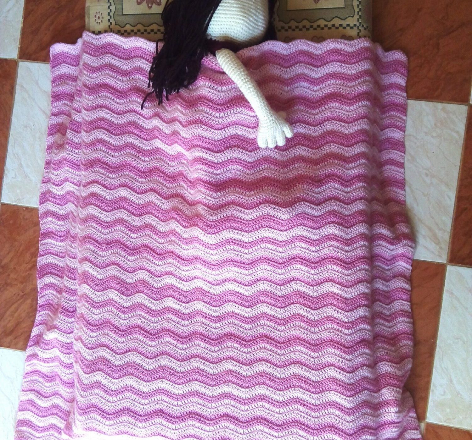 Crochet Baby Blanket Free Pattern – Ripple and Easy!