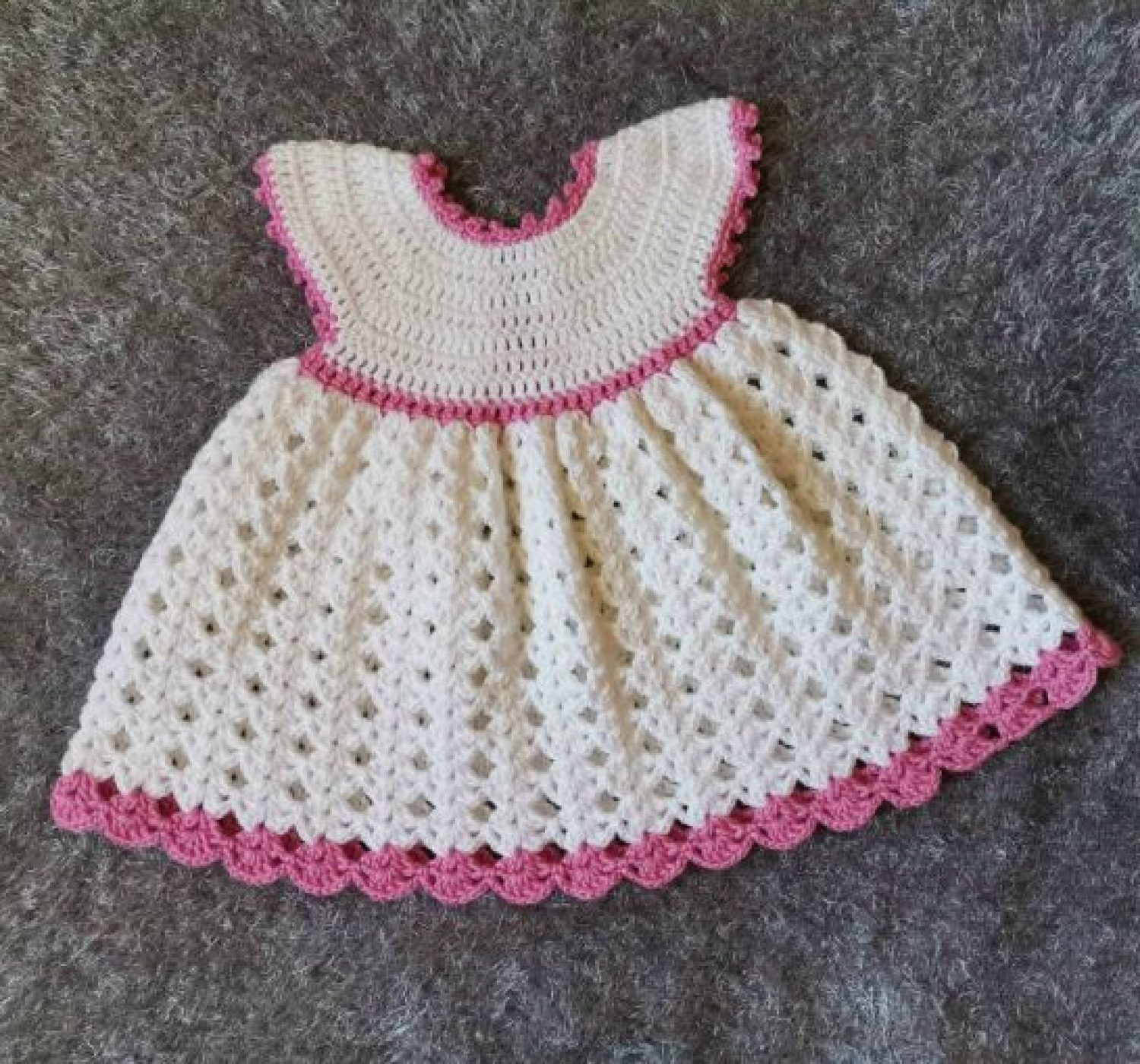 The White Princess Crochet Baby Dress – Free Pattern