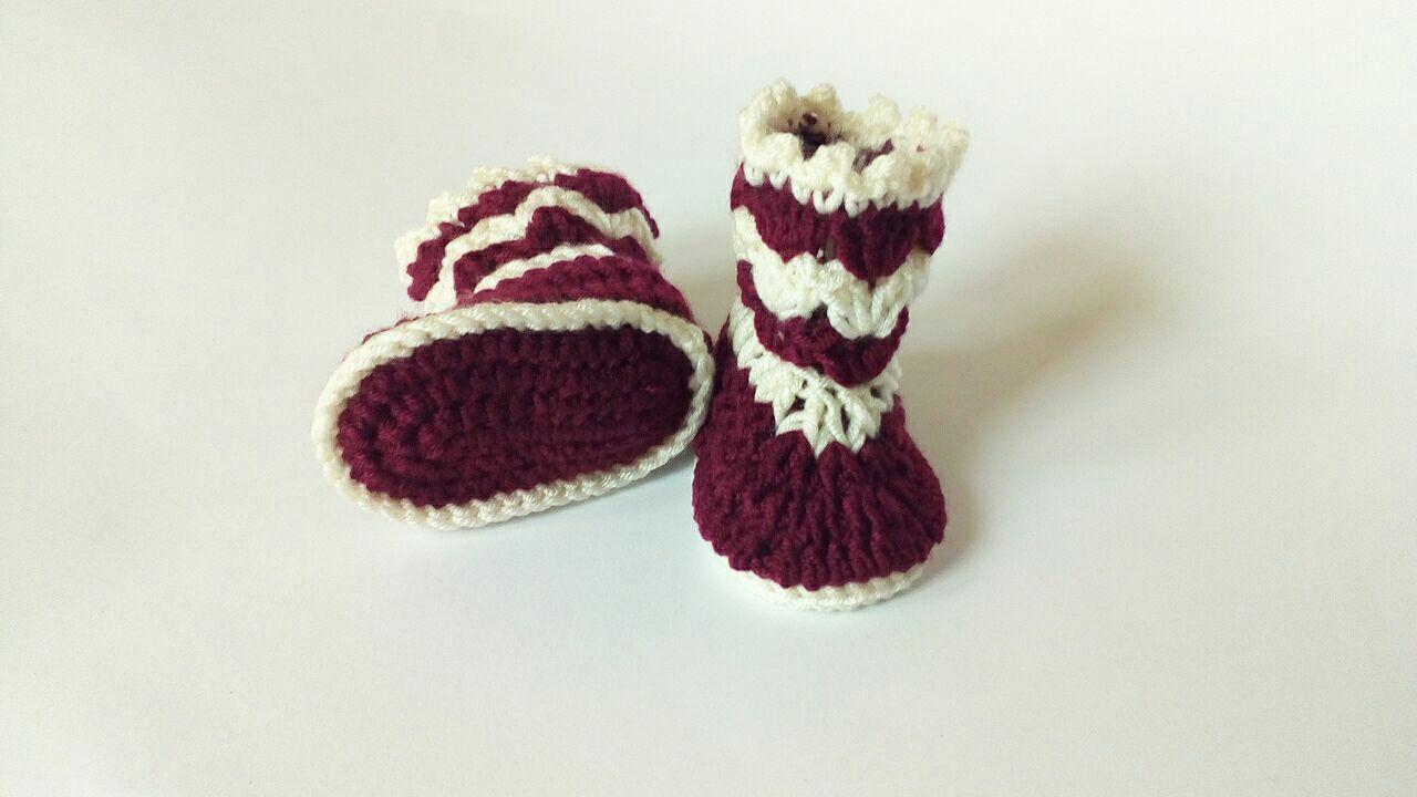 Chaussons Bébé Crochet Modèle Gratuit