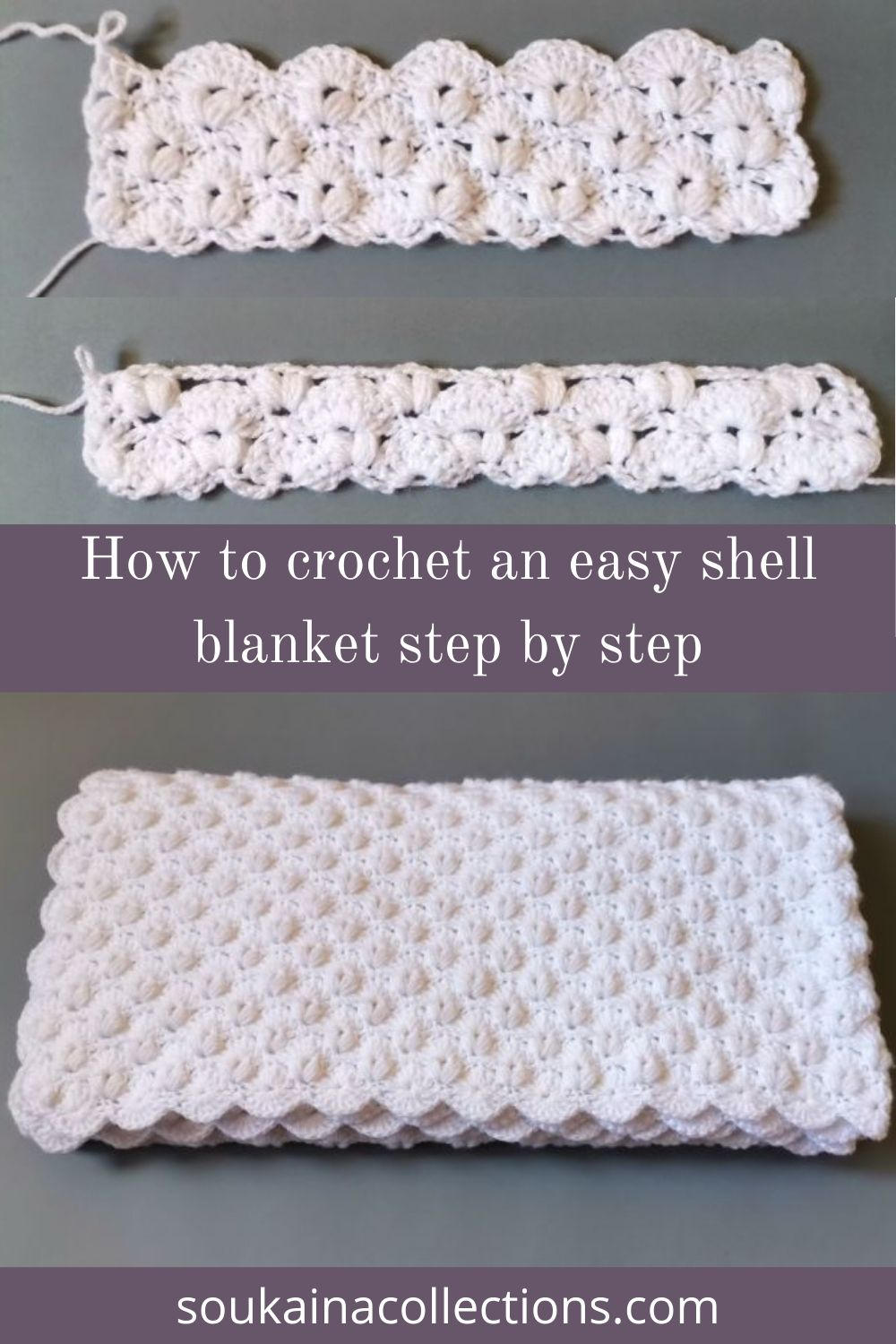 how to crochet a blanket step by step