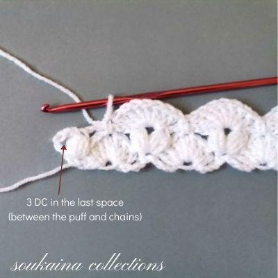 crochet white blanket step 8