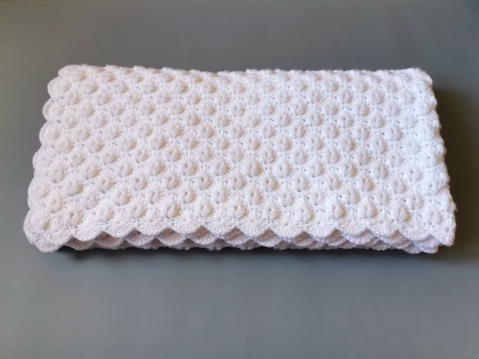 crochet white blanket free pattern