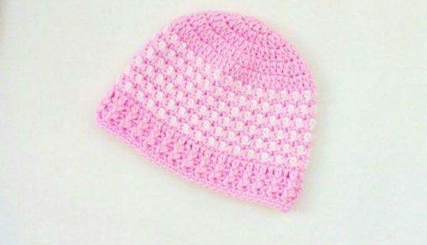 Crochet Toddlers Pink Hat