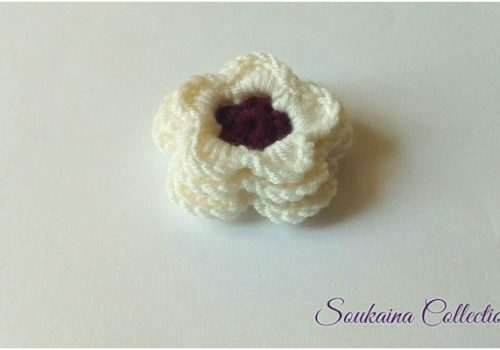 crochet flower with 3 layer