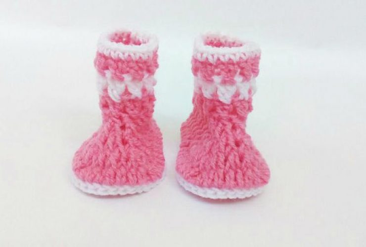crochet baby booties pattern free