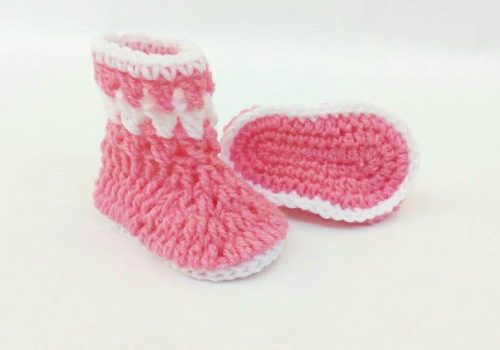 Crochet Baby Pink Shoes