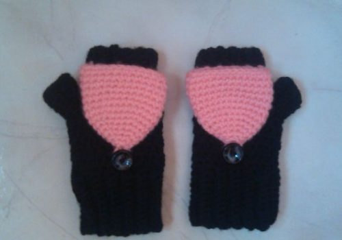 crochet convertible fingerless mittens2